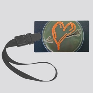 Love, microbial art Large Luggage Tag