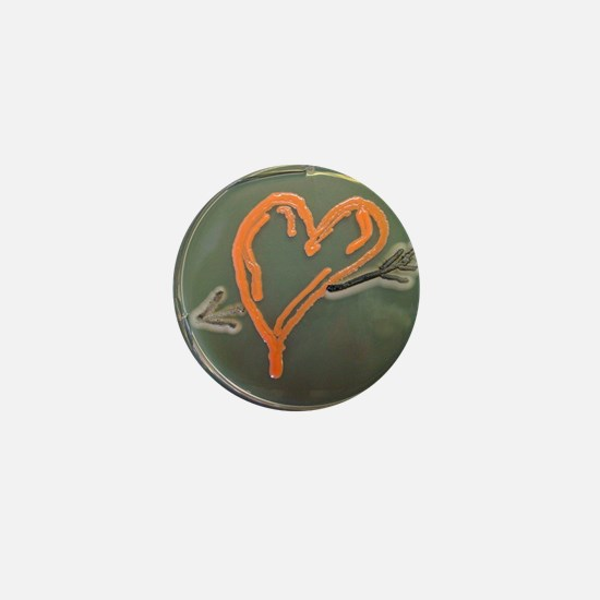 Love, microbial art Mini Button