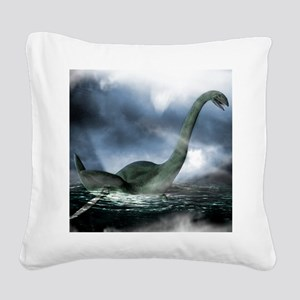 Loch Ness monster, artwork Square Canvas Pillow