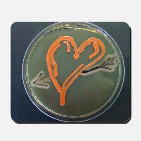 Love, microbial art Mousepad