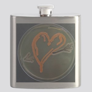Love, microbial art Flask