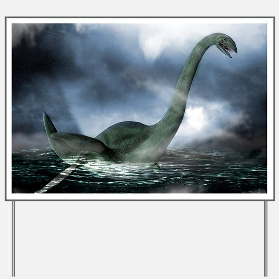 Loch Ness monster, artwork Yard Sign