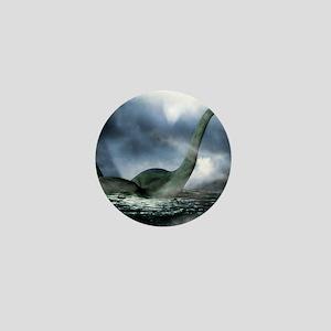 Loch Ness monster, artwork Mini Button