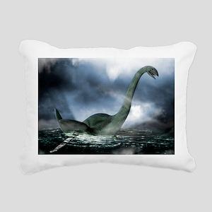 Loch Ness monster, artwo Rectangular Canvas Pillow
