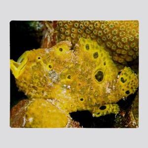 Longlure frogfish Throw Blanket