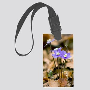Liverleaf (Hepatica nobilis) Large Luggage Tag