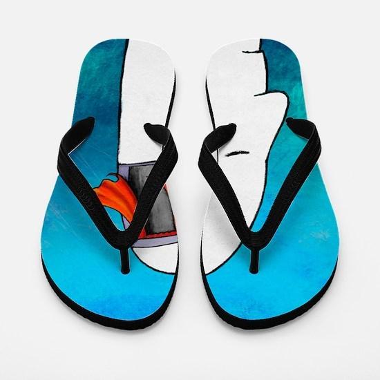 Lost your mind, conceptual artwork Flip Flops