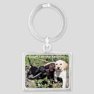 Eromit- Lab puppies Landscape Keychain