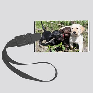 Eromit- Lab puppies Large Luggage Tag