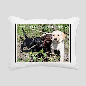 Eromit- Lab puppies Rectangular Canvas Pillow