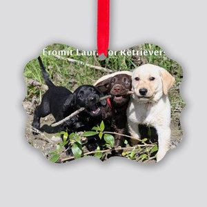 Eromit- Lab puppies Picture Ornament