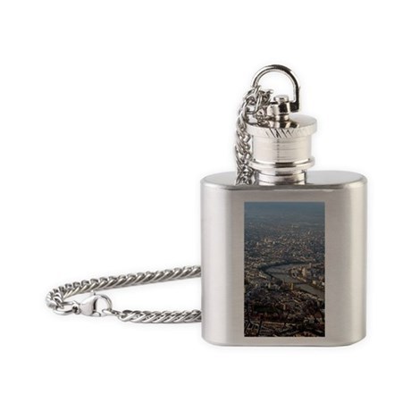 London, UK, aerial photograph Flask Necklace