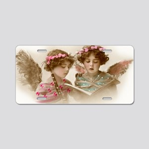 Christmas Angels singing Aluminum License Plate