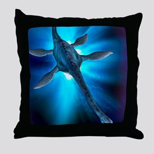 Loch Ness monster, artwork Throw Pillow