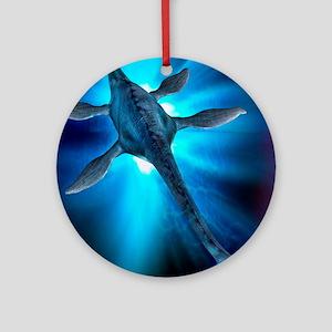 Loch Ness monster, artwork Round Ornament