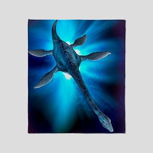 Loch Ness monster, artwork Throw Blanket