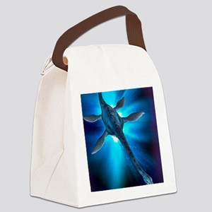 Loch Ness monster, artwork Canvas Lunch Bag