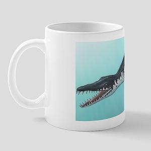 Liopleurodon marine reptile, artwork Mug