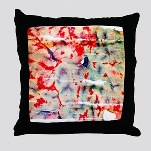 Liver tissue, light micrograph Throw Pillow