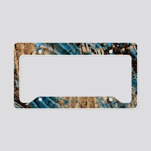 Limestone, thin section, pola License Plate Holder