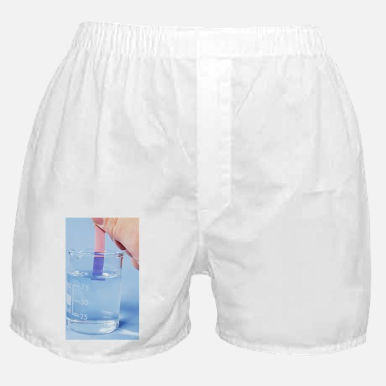 Litmus paper in alkali Boxer Shorts