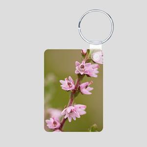 Ling (Calluna vulgaris) Aluminum Photo Keychain