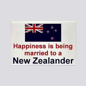 New Zealand-Happily Married Rectangle Magnet