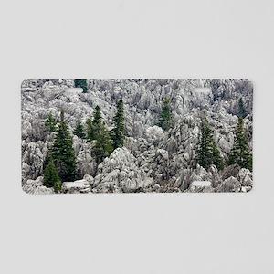 Limestone karst, Turkey Aluminum License Plate