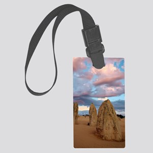 Limestone pinnacles at dusk, Aus Large Luggage Tag