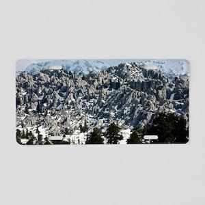 Limestone karst landscape Aluminum License Plate
