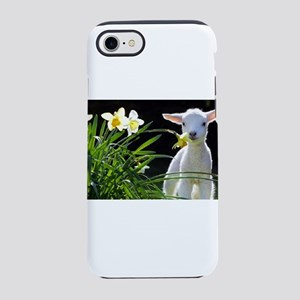 EASTER LAMB AND FLOWERS 2 iPhone 7 Tough Case