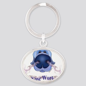 NOSE WORK Oval Keychain