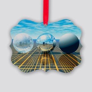 Light reflection from 3 spheres Picture Ornament