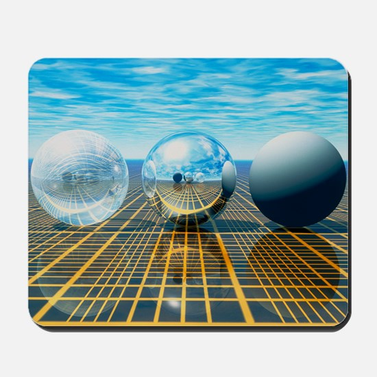Light reflection from 3 spheres Mousepad