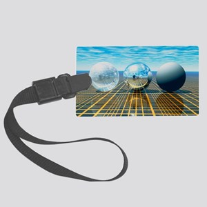 Light reflection from 3 spheres Large Luggage Tag