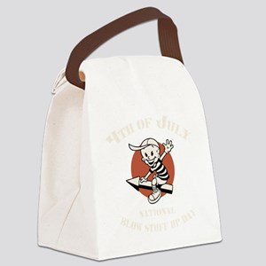 Blow Stuff Up Day Canvas Lunch Bag