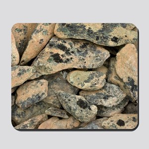 Lichen-covered rocks Mousepad
