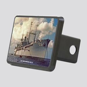 uss shenandoah framed pane Rectangular Hitch Cover