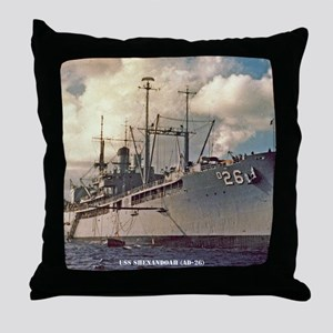 uss shenandoah framed panel print Throw Pillow