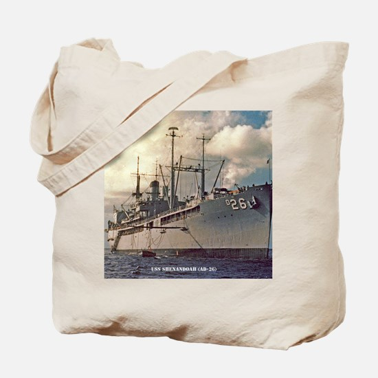 uss shenandoah framed panel print Tote Bag