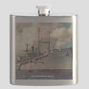 uss shenandoah framed panel print Flask