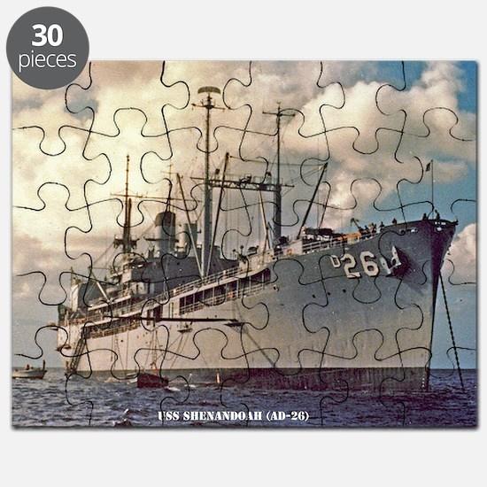 uss shenandoah framed panel print Puzzle