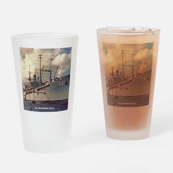 uss shenandoah framed panel print Drinking Glass