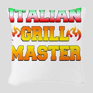 Italian Grill Master Woven Throw Pillow