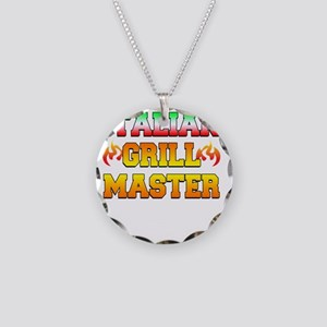 Italian Grill Master Necklace Circle Charm