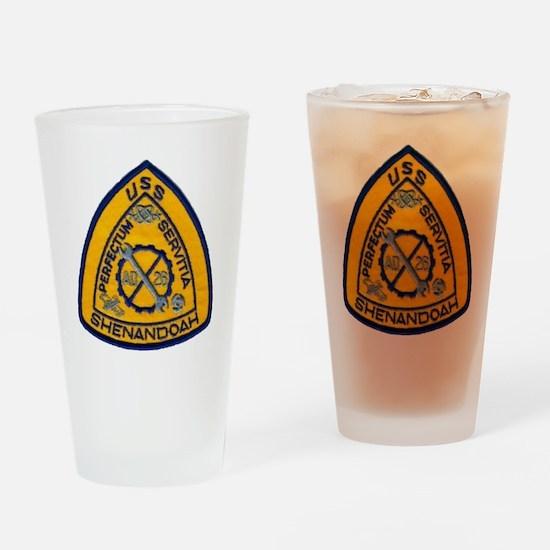 uss shenandoah patch transparent Drinking Glass