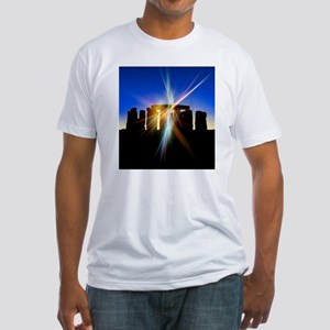 Light flares at Stonehenge, artwork Fitted T-Shirt