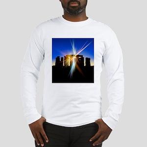 Light flares at Stonehenge, ar Long Sleeve T-Shirt