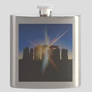 Light flares at Stonehenge, artwork Flask