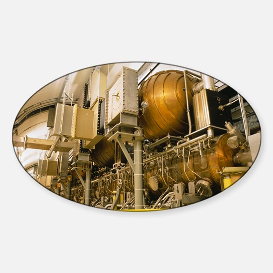 LEP particle collider Sticker (Oval)